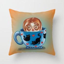 I Miss my Coffee Throw Pillow