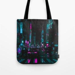 cyberpunk lost street Tote Bag