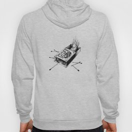 Combustible Thumb Tee - clean black ink for light T-shirts Hoody