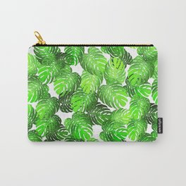 Monstera Leaf Random Pattern Carry-All Pouch