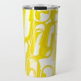 yellow paperclip Travel Mug