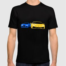 Lamborghini & Bugatti MEDIUM Black Mens Fitted Tee