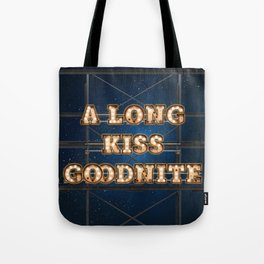 A long Kiss Goodnite -  Wall-Art for Hotel-Rooms Tote Bag