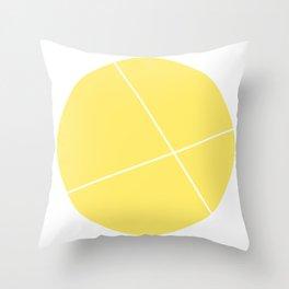 geometric yellow Throw Pillow