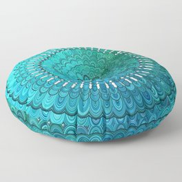 Turquoise Mandala Floor Pillow