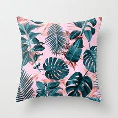 Tropical Garden III Throw Pillow