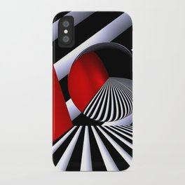 red white black -21- iPhone Case