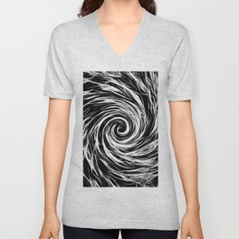 Future Abstract -BW- Unisex V-Neck