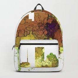 Houston Texas Skyline SG - Safari Buff Backpack