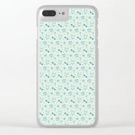 Beach Summer Pattern Clear iPhone Case