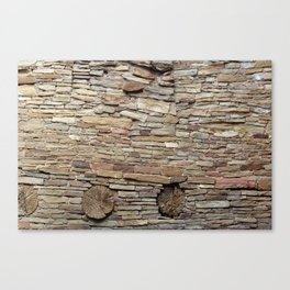 Rock and Wood Canvas Print