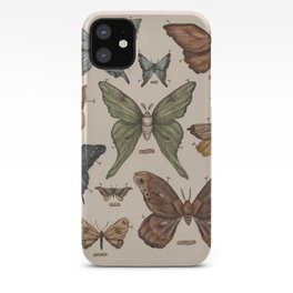Butterflies and Moth Specimens iPhone Case
