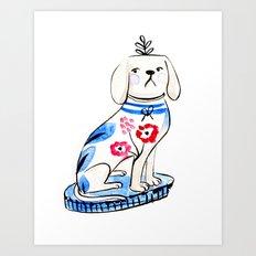 Fancy Little Dog  Art Print