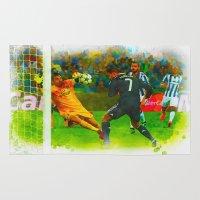ronaldo Area & Throw Rugs featuring Cristiano Ronaldo - Job Done by Don Kuing