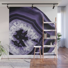Ultra Violet Agate Chic #1 #gem #decor #art #society6 Wall Mural