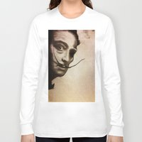 salvador dali Long Sleeve T-shirts featuring salvador dali zombie by Joedunnz
