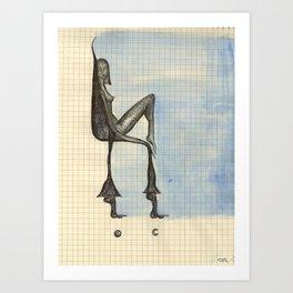 Foot Chair Art Print