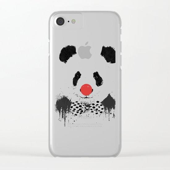 Clown panda Clear iPhone Case