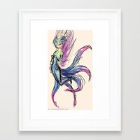 tooth Framed Art Prints featuring Tooth by Circus Irella