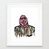 notorious big Framed Art Prints featuring Notorious BIG by Jara Montez