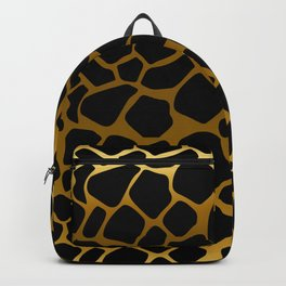 Gold and Black Giraffe Pattern Backpack