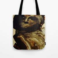 vogue Tote Bags featuring Vogue by Michelle Silsbee
