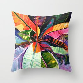 Kauai Croton Leaves Throw Pillow