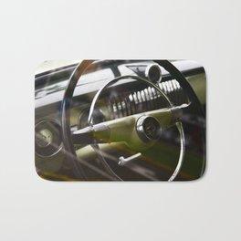 steering wheel in classic american ca Bath Mat