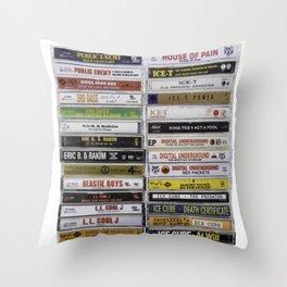 OG Hip Hop Tapes Throw Pillow