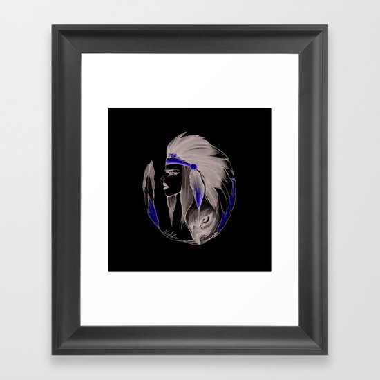 Indian woman  Framed Art Print