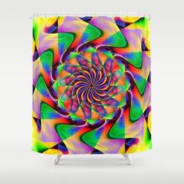 frequency mandala Shower Curtain