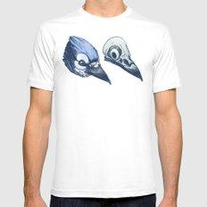 Blue Jay Skull Mens Fitted Tee MEDIUM White
