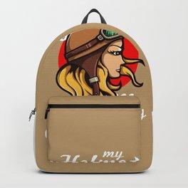 My Helmet is my Crown Backpack
