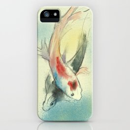 Koi Carp Fish Illustration iPhone Case