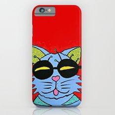 cat with glasses iPhone 6s Slim Case