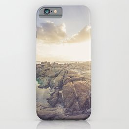 Golden hour, rocky beach Landscape - Photography #Society6 iPhone Case