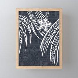 Hawaiian - Samoan - Polynesian Old Tribal Framed Mini Art Print