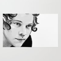 harry Area & Throw Rugs featuring Harry by GirlApe