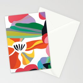 Color block print Stationery Cards