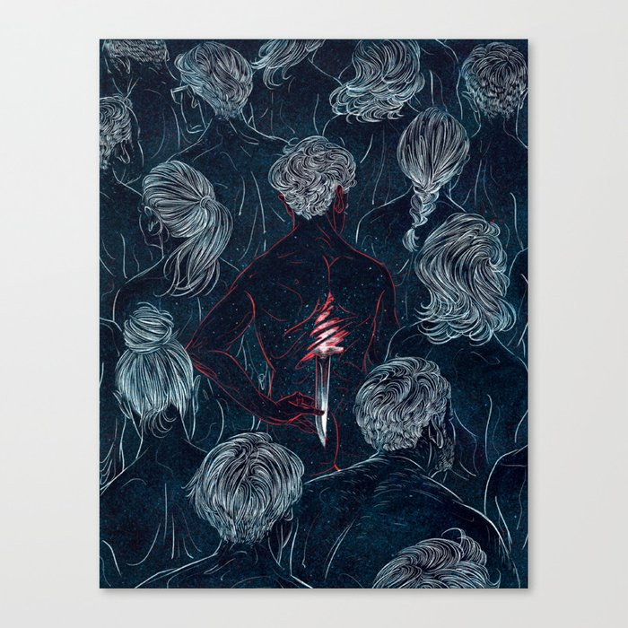 THE MURDERER Canvas Print