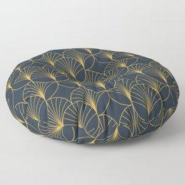Golden Art Deco Moon Rays Floor Pillow