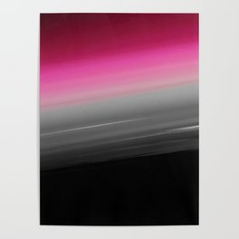 Pink Gray Black Ombre Poster