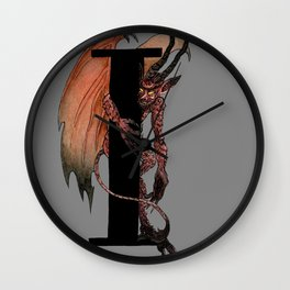 I is for Imp Wall Clock