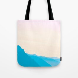 Candypastel Mountains Tote Bag