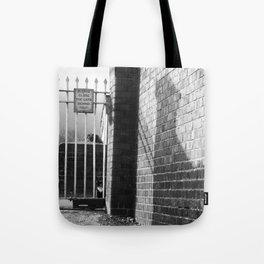Railway Cat Black & White Tote Bag