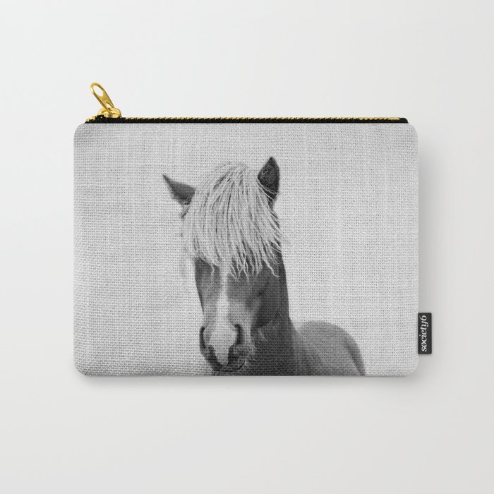 Horse - Black & White Carry-All Pouch