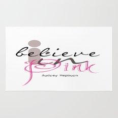I believe in Pink Audrey Hepburn Rug