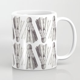 Badminton Shuttlecocks Pencil Drawing Coffee Mug