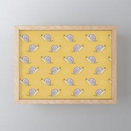 Snails & Swirls Pattern Framed Mini Art Print