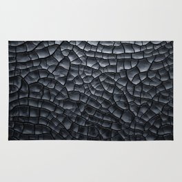 Gothic texture | Black and grey texture | Cracked design Rug
